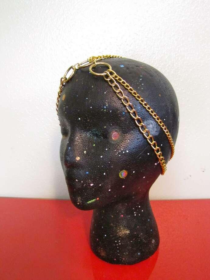 Gold headpiece, $20, Hardwear, Facebook.com/HardwearbyChelsey