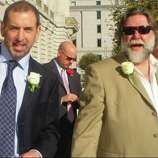 """Just married at City Hall, October 2008."""