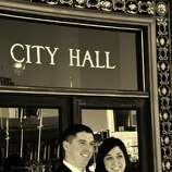 """December 10, 2012. Best day of our lives. Married in City Hall followed by lunch at Le Central."""