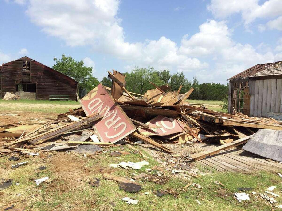 Damage to Willie Nelson's ranch, known as Luck, Texas, in Spicewood, Texas.