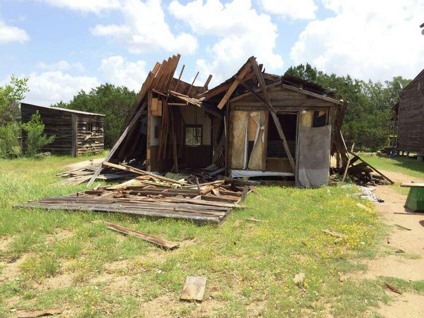 Damage to Willie Nelson's ranch, known as Luck, Texas, in Spicewood, Texas. Courtesy Facebook.