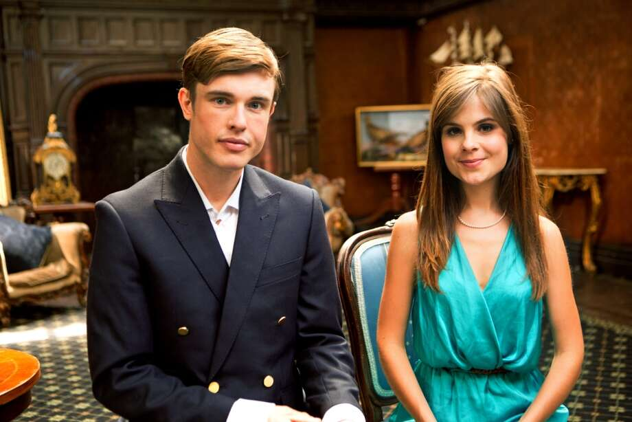 """Almost Royal"" on BBC America stars Ed Gamble as Georgie and Amy Hoggart as Poppy."