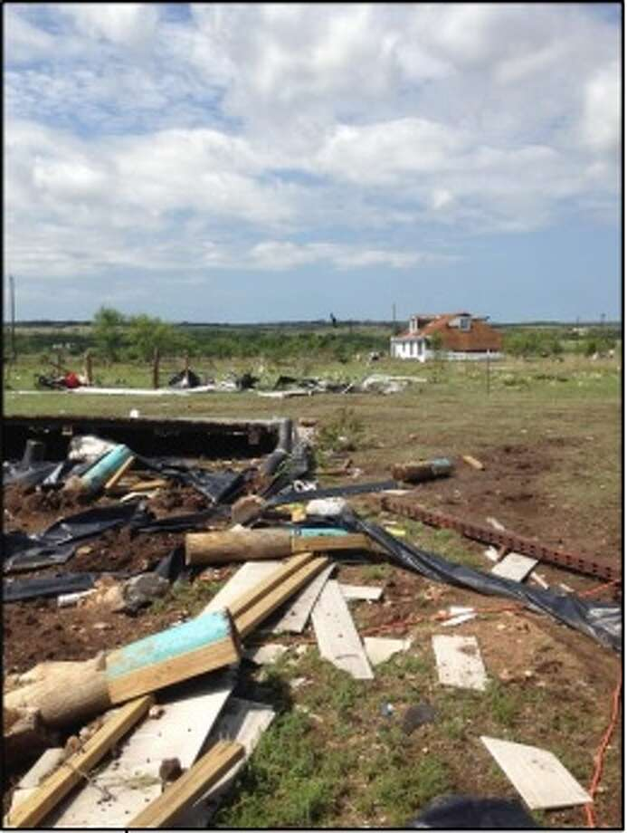 Damage caused by severe weather in Central Texas on June 12, 2014. Courtesy National Weather Service. Photo: *