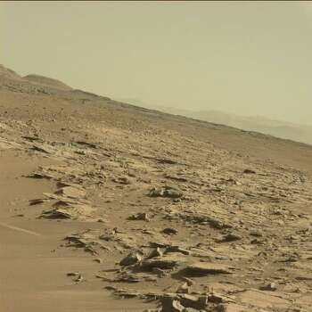 A toy boat left on Mars?Can you see it?