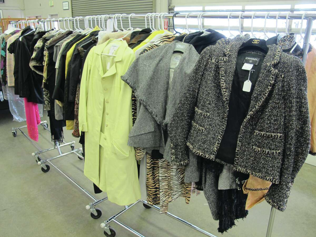 Clothing owned by Michael and Linda Mastro, pictured in a photo provided by auction house James G. Murphy Co. A collection of the couple's belongings are slated for auction Thursday, June 26, at the firm's Kenmore site.