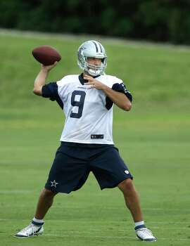 Dallas Cowboys quarterback Tony Romo passes during an NFL football minicamp, Wednesday, June 18, 2014, in Irving, Texas. (AP Photo/LM Otero) Photo: LM Otero, Associated Press / AP