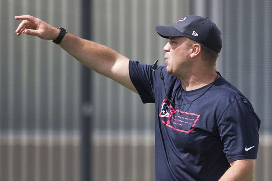 Texans head coach Bill O'Brien starts practice. Photo: Brett Coomer, Houston Chronicle