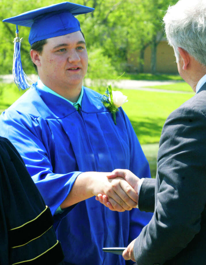 The Shepaug Valley High School graduation ceremony, June 14, 2014, on the school campus in Washington. Photo: Norm Cummings / The News-Times