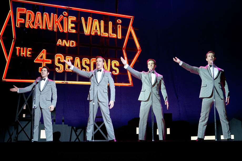 "This photo released by Warner Bros. Pictures shows, from left, John Lloyd Young as Frankie Valli, Erich Bergen as Bob Gaudio, Vincent Piazza as Tommy DeVito, and Michael Lomenda as Nick Massi in Warner Bros. Pictures' musical ""Jersey Boys,"" a Warner Bros. Pictures release. (AP Photo/Courtesy Warner Bros., Keith Bernstein) ORG XMIT: CAET927 Photo: Keith Bernstein / Warner Bros. Pictures"
