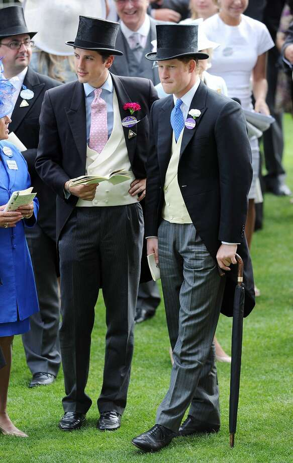 Jolly good show, old chap: Prince Harry attends the third day of Royal Ascot at Ascot Racecourse dressed as the gent from Monopoly's Community Chest. Photo: Stuart C. Wilson, Getty Images