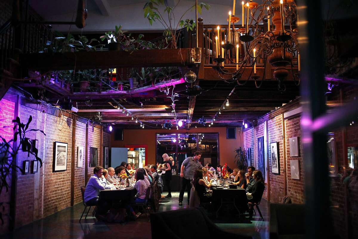 The temporary dining space for one of chef David Barzelay's Lazy Bear underground dinners in San Francisco, Calif., on Monday, June 9, 2014.