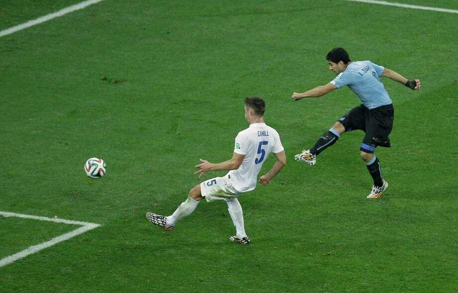 June 19  Uruguay 2, England 1 Photo: Michael Sohn, Associated Press / AP