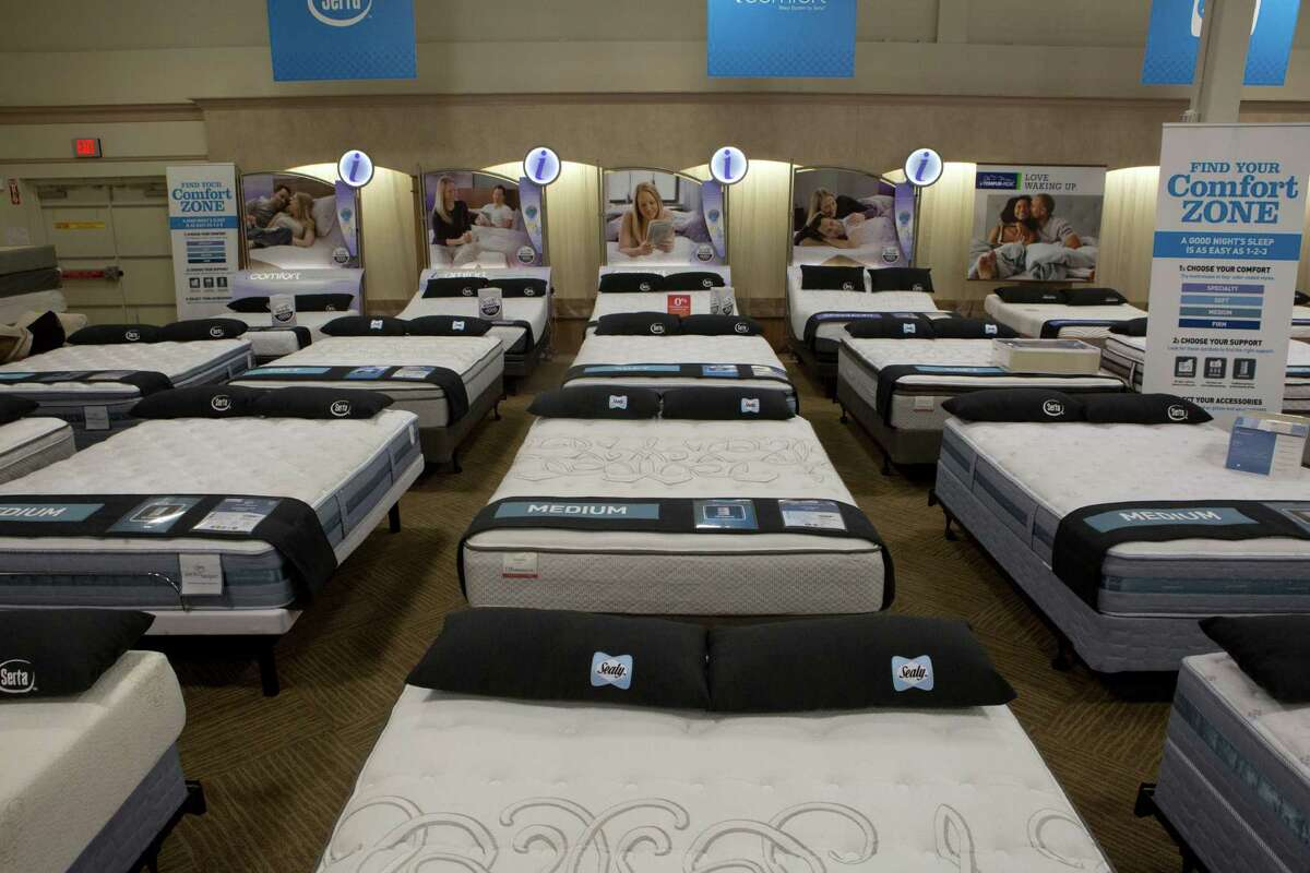 Mattress department at Conn's Home Plus in Spring. Friday, May 9, 2014. ( Marie D. De Jesus / Houston Chronicle )