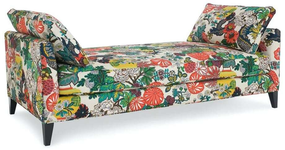 CR Laine daybed in F. Schumacher's ChiangMai Spring fabric