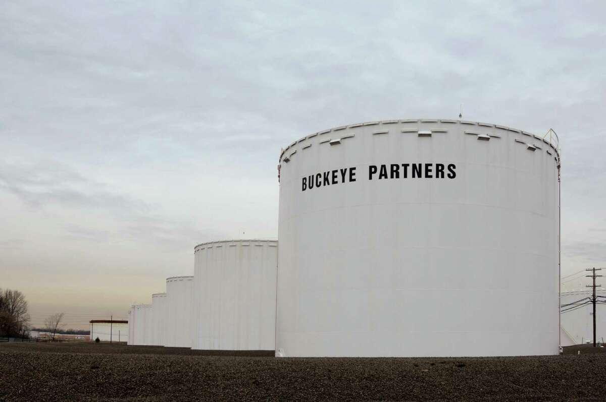 Storage tanks at a Buckeye Partners terminal facility.