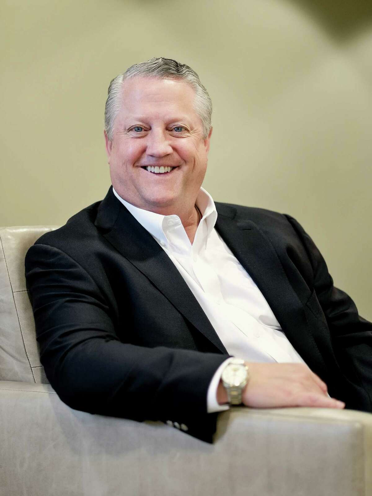 Oasis Petroleum CEO, Tommy Nusz, poses for a portrait, Thursday, June 5, 2014 at the Oasis Petroleum offices in downtown Houston,Texas. Â TODD SPOTH