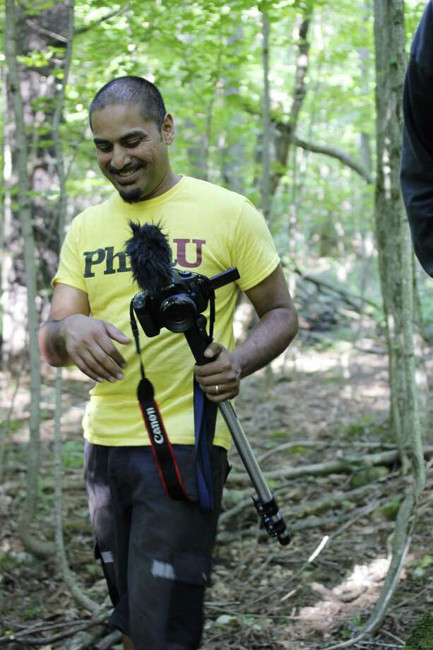 Bhawin Suchak assisting in filming