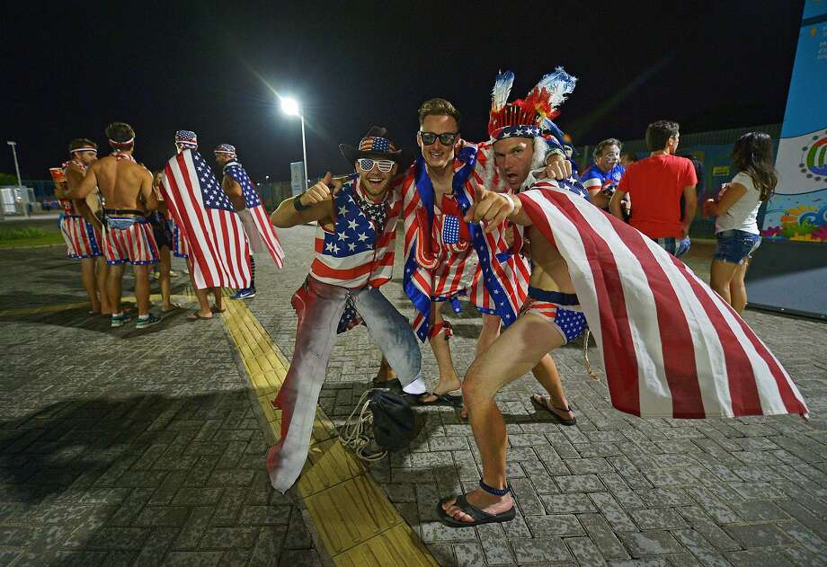 U.S. fans celebrate after their team beat Ghana 2-1 in their first match of the 2014 FIFA World Cup in Natal, Brazil. Photo: Carl De Souza, AFP/Getty Images