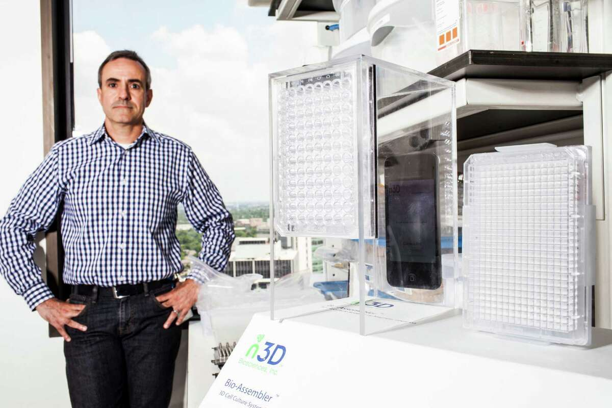 Glauco R. Souza, PhD, chief science officer and president of n3D Biosciences, Inc., May 30, 2014 in Houston. (Eric Kayne/For the Chronicle)