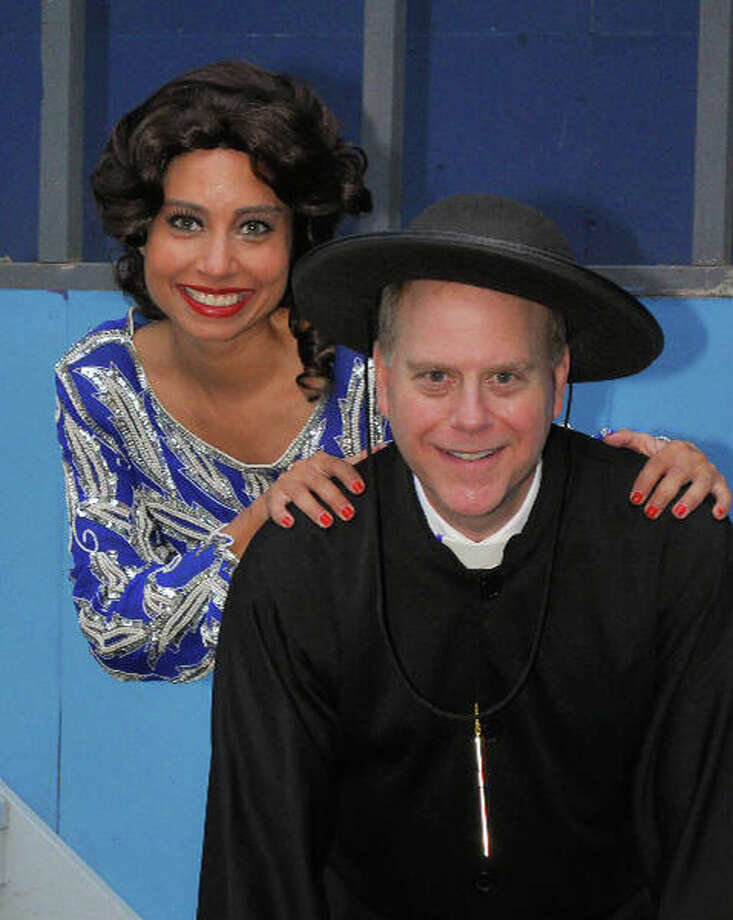 "Janina Gonzalez stars as evanglist-turned-nightclub-singer Reno Sweeney and Ted Schwartz is Moonface Martin in the Cole Porter show ""Anything Goes"" at Musicals at Richter in Danbury starting Friday, June 27. Photo: Contributed Photo / Connecticut Post Contributed"
