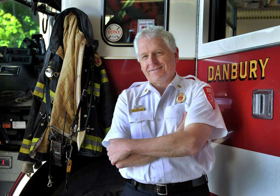 Danbury Fire Chief Geoff Herald is photographed in the New Street headquarters Monday, June 16, 2014. He will soon be retiring after a 40 year career. Photo: Carol Kaliff / The News-Times