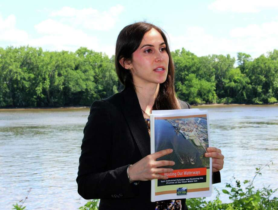 Director of Environment New York ,Heather Leibowitz releases reports documenting pollution in the Hudson River on Thursday afternoon, June 19, 2014, at the Riverfront Corning Preserve in Albany N.Y. (Selby Smith / Special to the Times Union) Photo: Selby Smith / 00027411A
