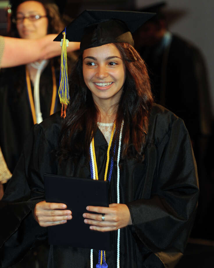 Commencement Exercises for the Bullard-Havens Technical High School Class of 2014, held at The Klein Memorial Auditorium, in Bridgeport, Conn. June 19, 2014. Photo: Ned Gerard / Connecticut Post