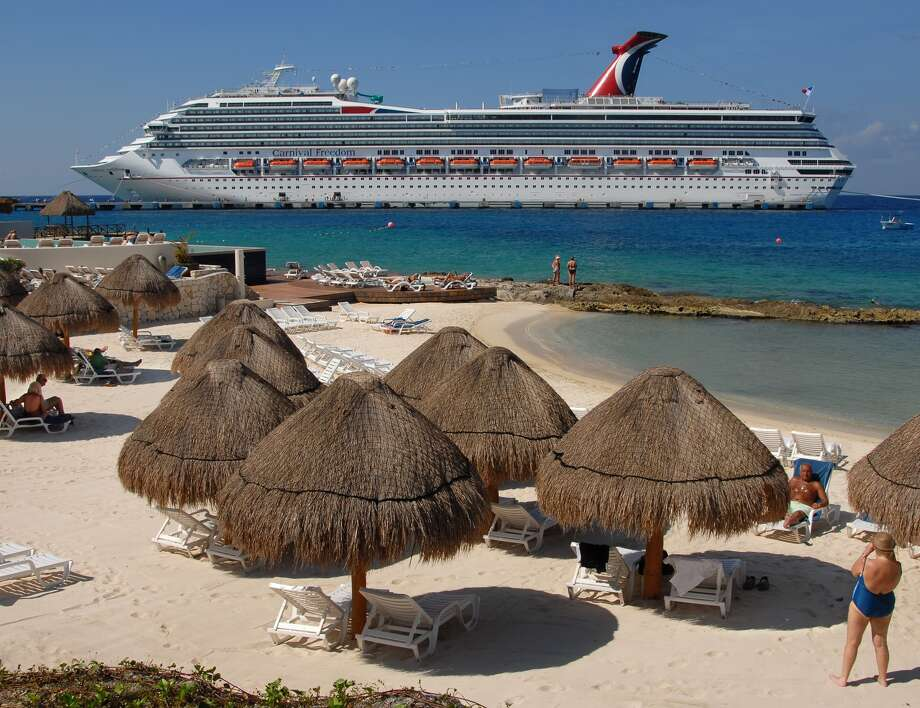 CozumelCarnival's newest Galvestonian, Carnival Freedom at port in Cozumel.  Cruises here are also available with Disney and Royal Caribbean. Photo: Carnival Cruises