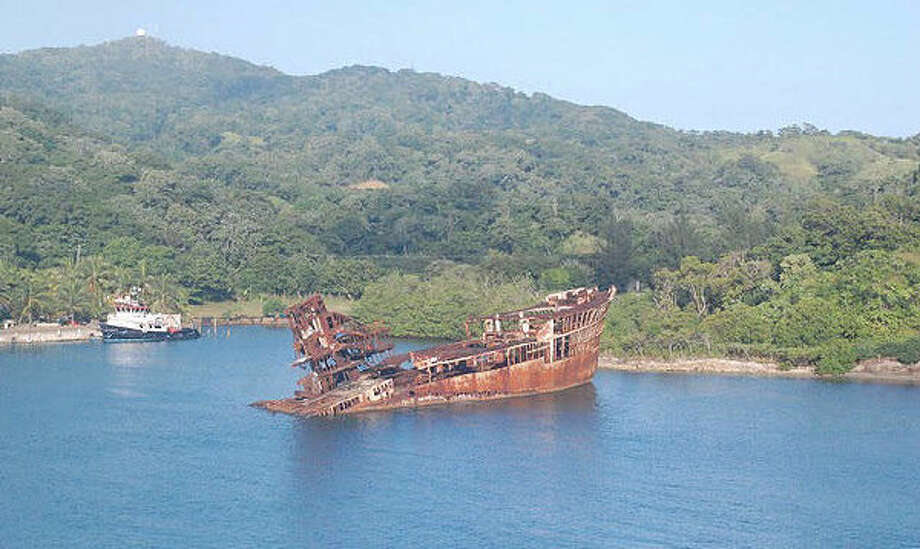 RoatanCruise line passengers may awaken to a view of a real shipwreck as they arrive in the $62 million fantasy development of Mahogany Bay, on the Honduran island of Roatan. Cruise here with Carnival and Royal Caribbean.