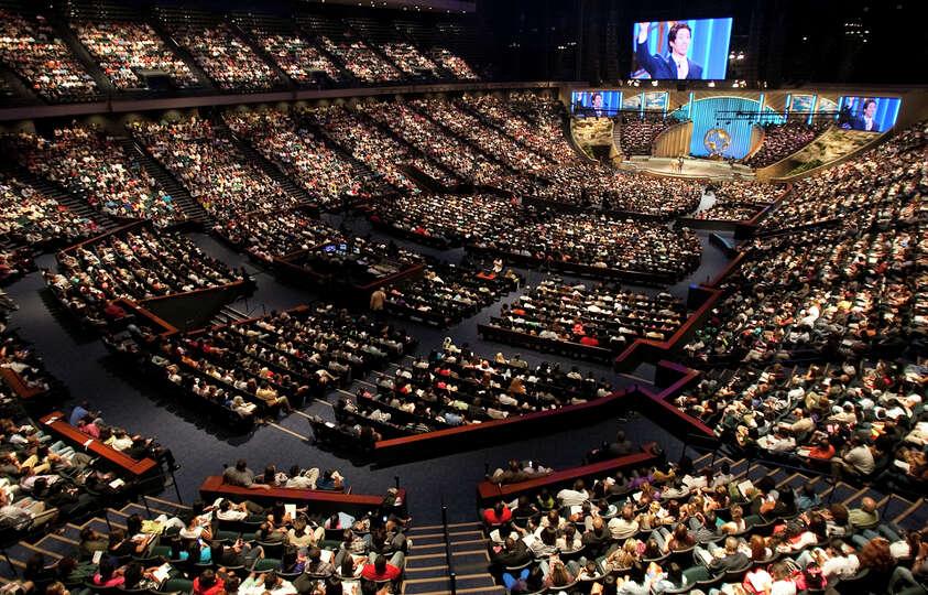16 000     seating capacity of Osteen s basketball arena-turned-church    Joel Osteen Church Capacity
