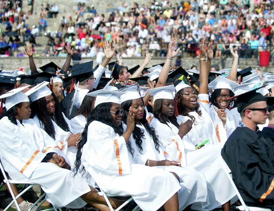 The Stamford High School commencement ceremony on Thursday, June 19, 2014. Photo: Lindsay Perry / Stamford Advocate