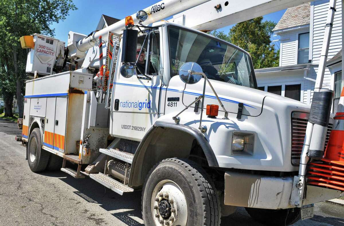 A National Grid truck in Waterford Tuesday Aug. 30, 2011. (John Carl D'Annibale / Times Union)