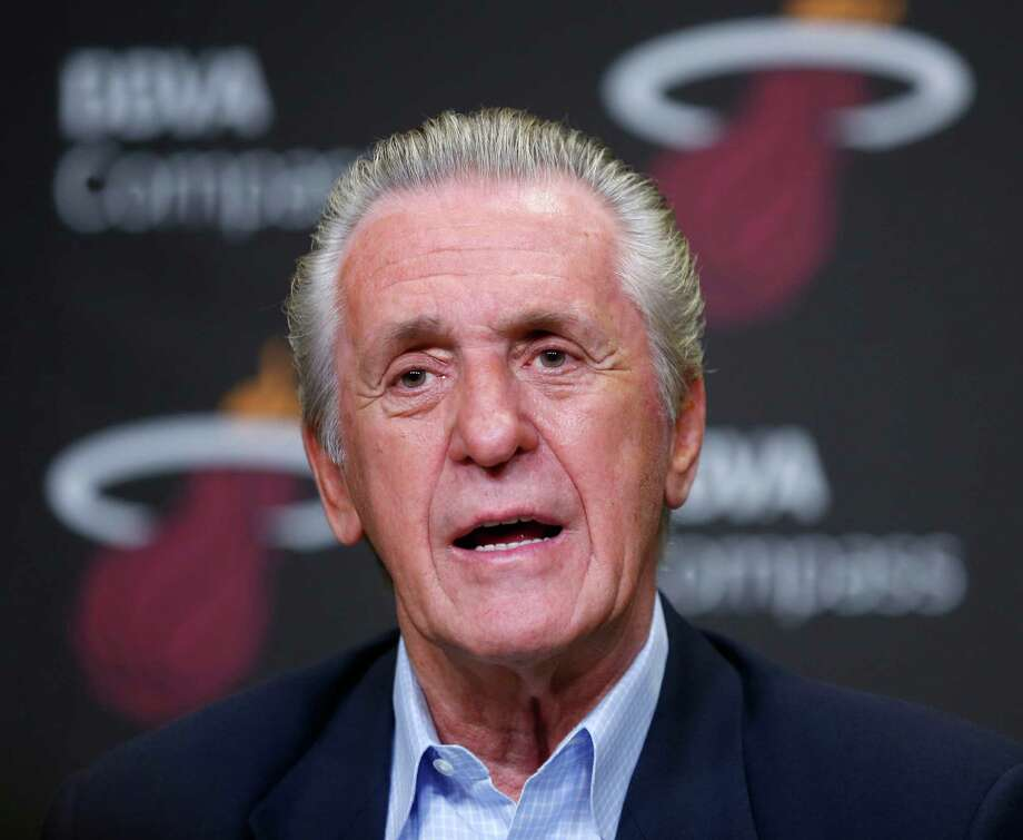Miami Heat president Pat Riley speaks during an end of season NBA basketball news conference, Thursday, June 19, 2014, in Miami. (AP Photo/The Miami Herald, Al Diaz)  MAGS OUT ORG XMIT: FLMIH204 Photo: Al Diaz / The Miami Herald