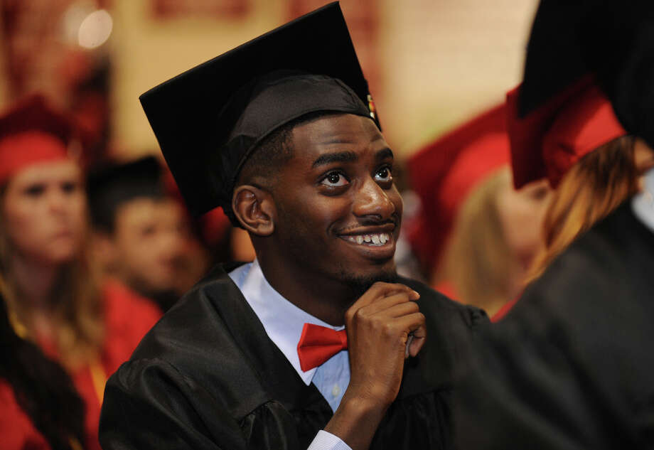 Graduate Jonathan Charles at the Platt Technical High School Class of 2014 Graduation in Milford, Conn. on Thursday, June 19, 2014. Photo: Brian A. Pounds / Connecticut Post