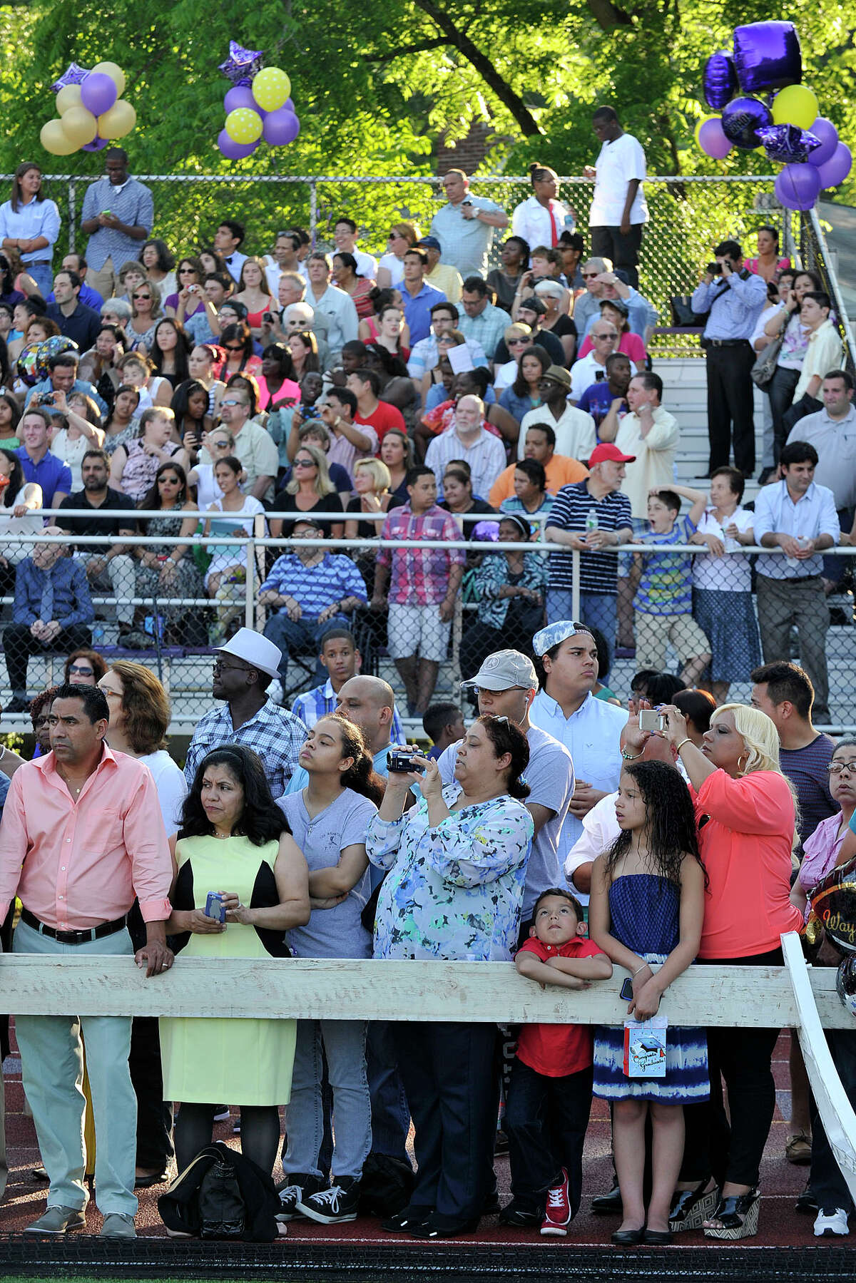 Scenes from the Westhill graduation ceremony at Westhill High School in Stamford, Conn., on Thursday, June 19, 2014.