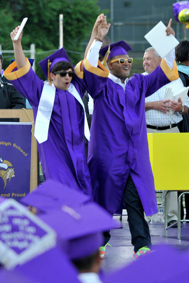 Scenes from the Westhill graduation ceremony at Westhill High School in Stamford, Conn., on Thursday, June 19, 2014. Photo: Jason Rearick / Stamford Advocate