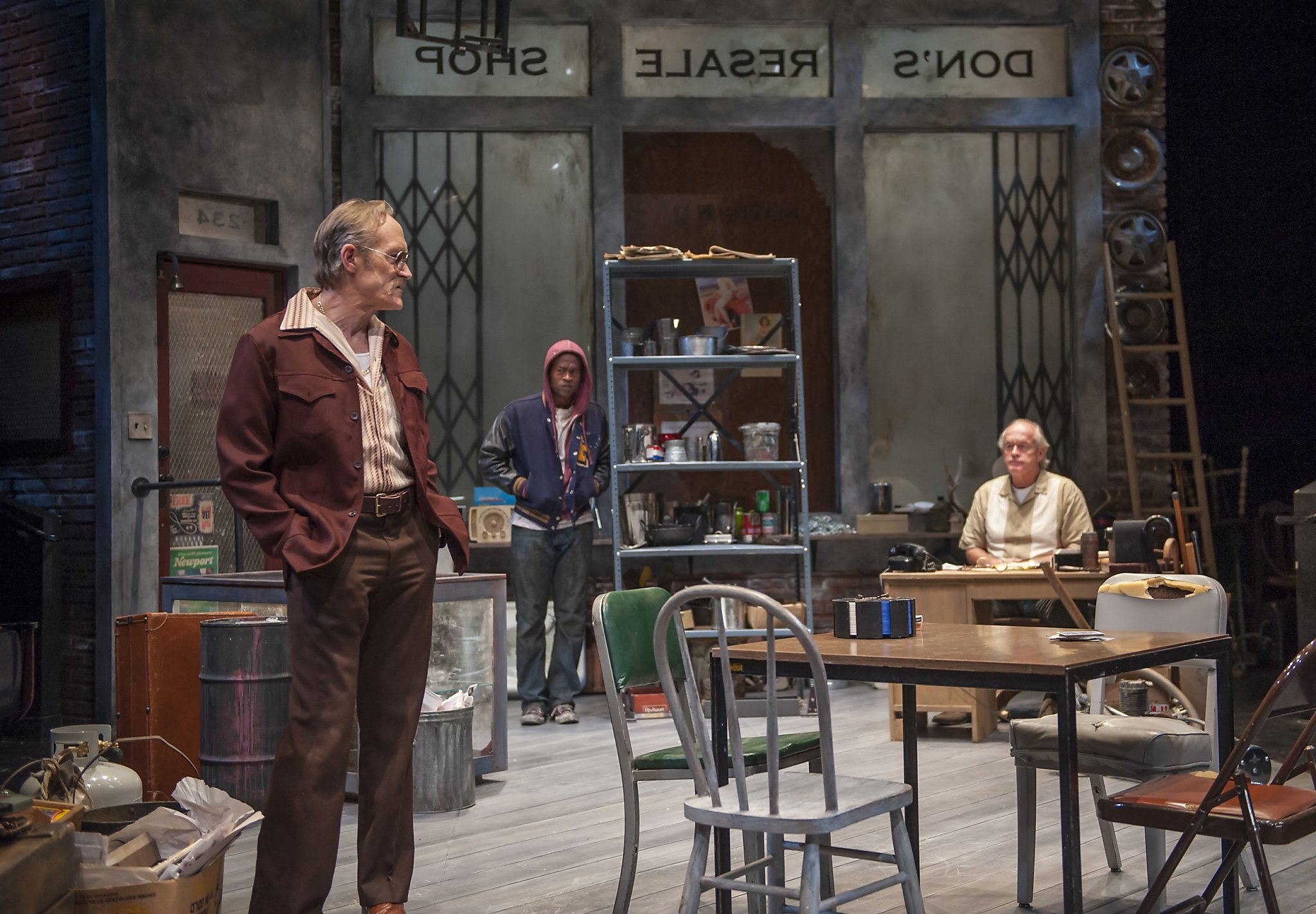 a review of american buffalo American buffalo offers an absorbing and revealing portrait of men under pressure, anxious to get ahead but inarticulate about their deepest thoughts and feelingsthat's the forte of playwright david mamet, whose national career was launched in part by this 1975 playdeaf west theatre.