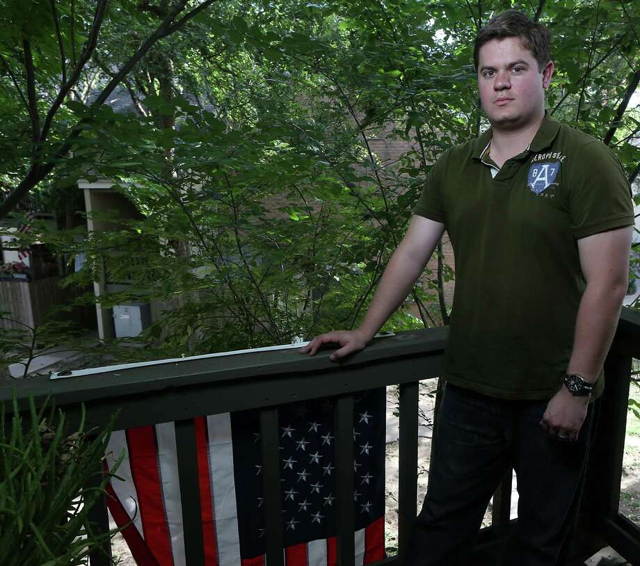 Garrett Elliott, who served in the 72nd Infantry Brigade Combat Team in Iraq for nine months, 