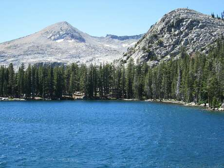 Lake of the Woods in Desolation Wilderness is an easy day hike out of the trailhead at Echo Lakes near South Lake Tahoe -- Ralston Peak, at 9,235 feet, towers on the horizon