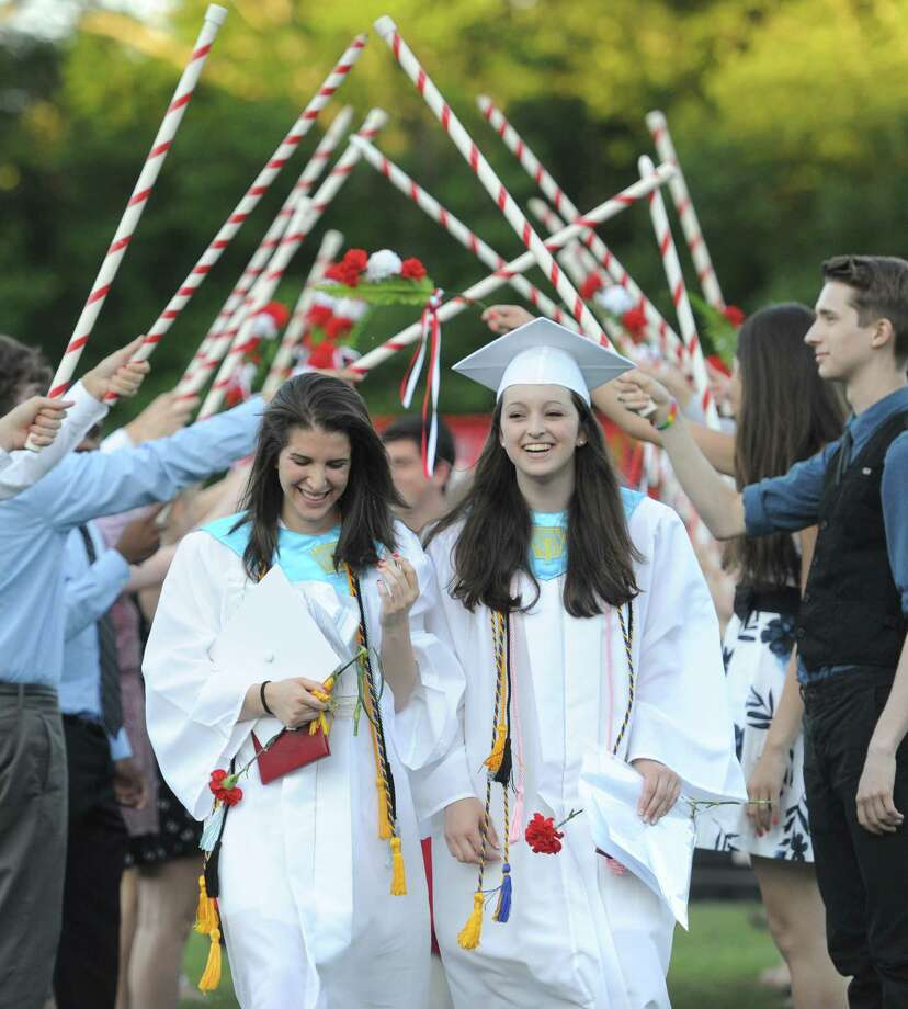 Photos from the Masuk High School 2014 Graduation Ceremony at Masuk High School in Monroe, Conn. Thursday, June 19, 2014. Photo: Tyler Sizemore / The News-Times