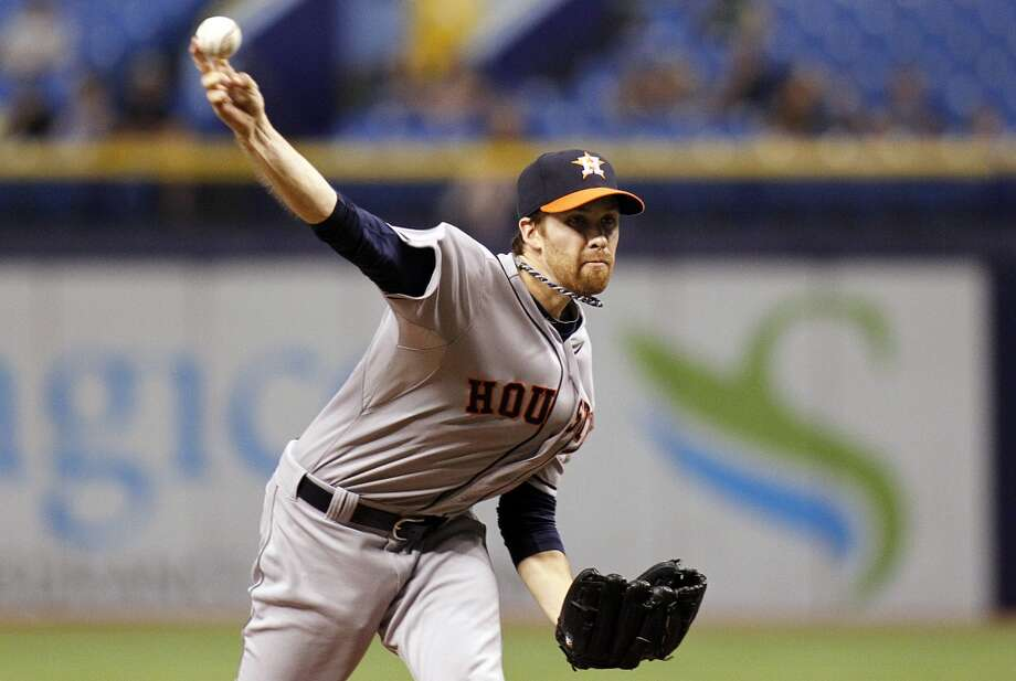 June 19: Rays 5, Astros 0  Collin McHugh pitches during the first inning. Photo: Brian Blanco, Getty Images