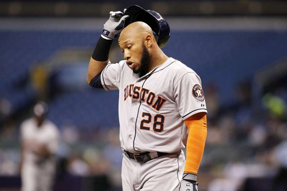 June 19: Rays 5, Astros 0Jon Singleton and the rest of the bats where nowhere to be found in the Astros' fourth straight loss.  Record: 32-42. Photo: Brian Blanco, Getty Images