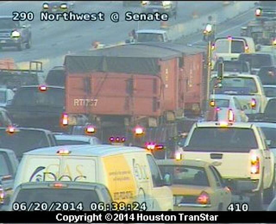 A big rig crash early Friday morning forced officials to temporarily shut down portions of U.S. 290 in northwest Harris County.