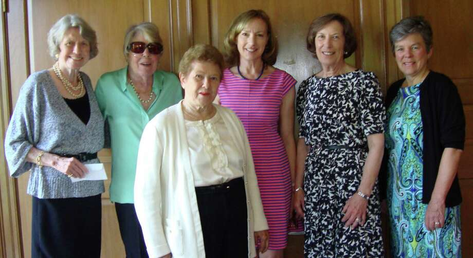 The Greens Farms Garden Club  elected several members to its executive board for 2014-15. From left: Celie Rosenau of Redding, assistant treasurer; Jean Hampe of Westport, corresponding secretary; Betty Gosselin of Greens Farms, recording secretary; Sandy Lewis of Weston, president; Judy Reynolds of Southport, vice president; and Barbara Harmon of Southport, treasurer. Photo: Contributed Photo / Westport News