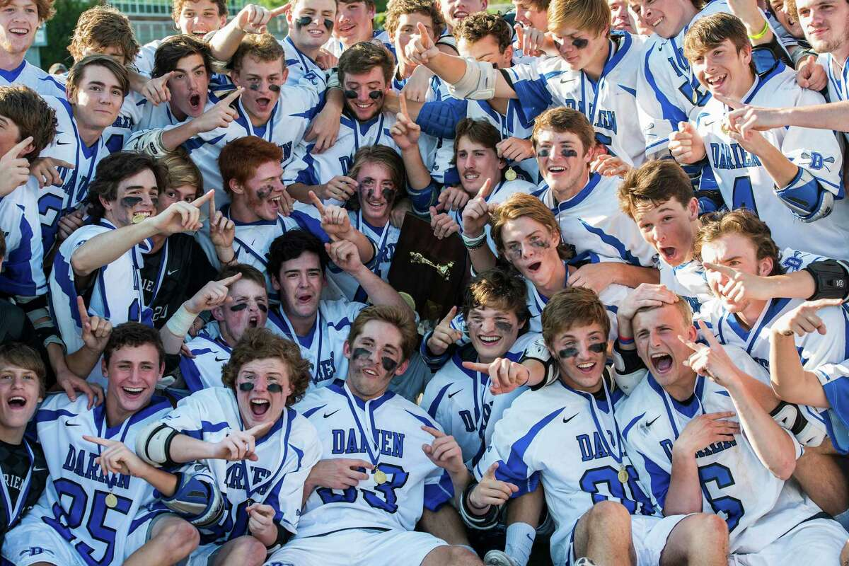 Darien high school against New Canaan high school during the CIAC class M boys lacrosse championship game played at Brien McMahon high school, Norwalk,CT on Saturday, June 14th, 2014.