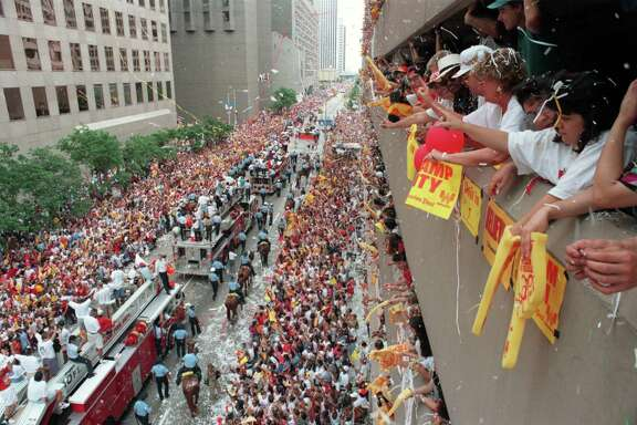 Houston, which had 'wanted this for so long,' as then-coach Rudy Tomjanovich said, gave the Rockets a parade to remember after the first title in 1994.