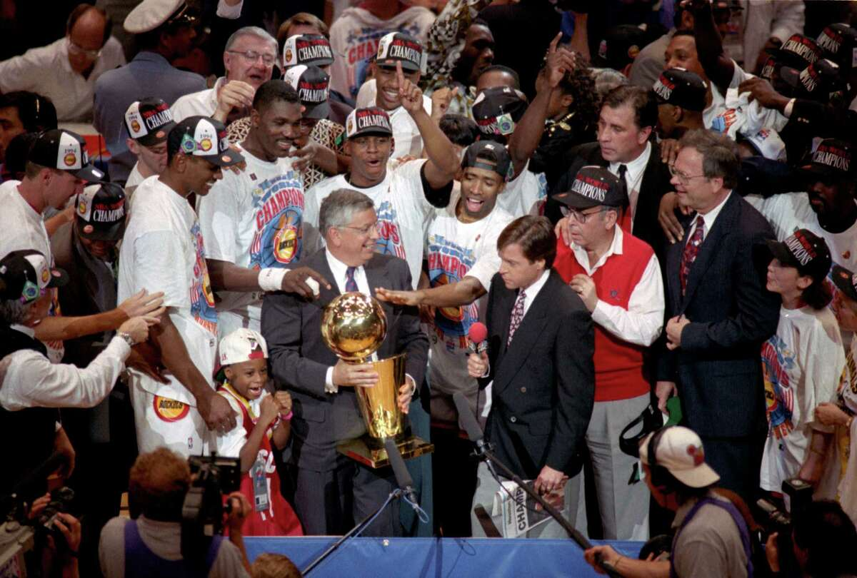 The Rockets await the final prize - the Larry O'Brien Trophy from NBA commissioner David Stern - to cement their place as champions.