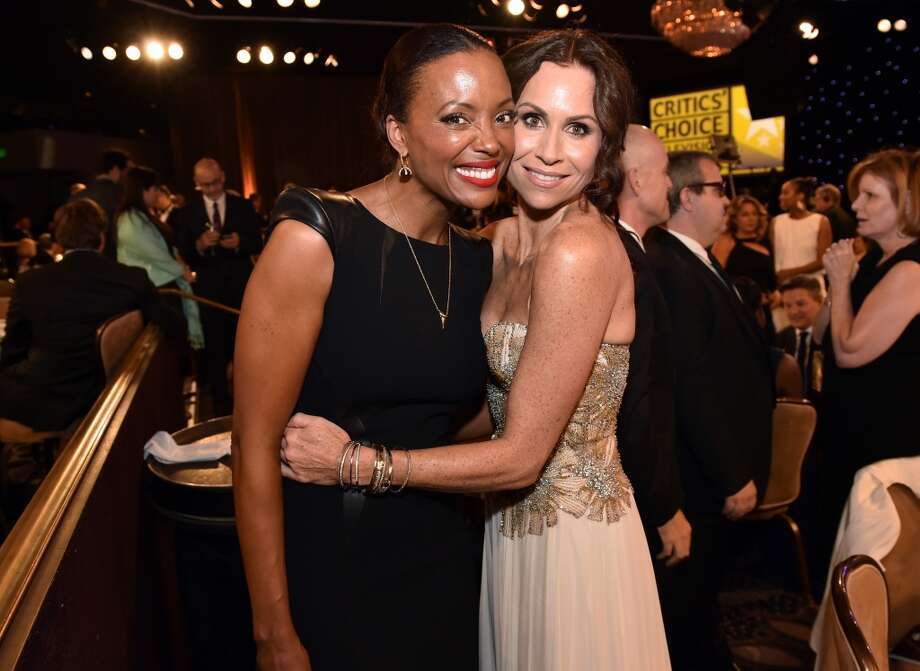 Actresses Aisha Tyler (L) and Minnie Driver attend the 4th Annual Critics' Choice Television Awards at The Beverly Hilton Hotel on June 19, 2014 in Beverly Hills, California.  (Photo by Kevin Winter/Getty Images for Critics' Choice Television Awards) Photo: Kevin Winter
