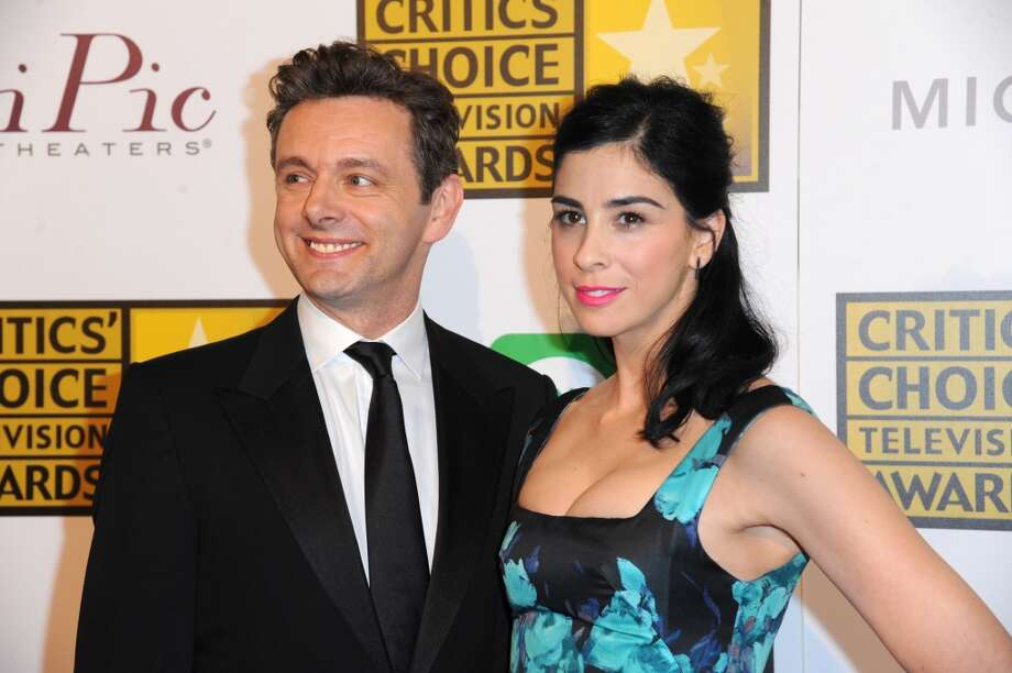 Michael Sheen, left, and Sarah Silverman pose in the press room at the Critics' Choice Television Awards at the Beverly Hilton Hotel on Thursday, June 19, 2014, in Beverly Hills, Calif. Photo: Richard Shotwell, Associated Press