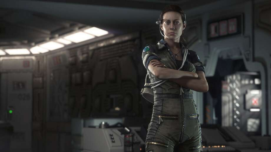 "Sega's ""Alien: Isolation,"" featuring Amanda Ripley as a survivor, was one  of the few at the Electronic Entertainment Expo with a female protagonist. Photo: Uncredited, Associated Press"